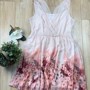 LC Lauren Conrad pink sheer floral dress